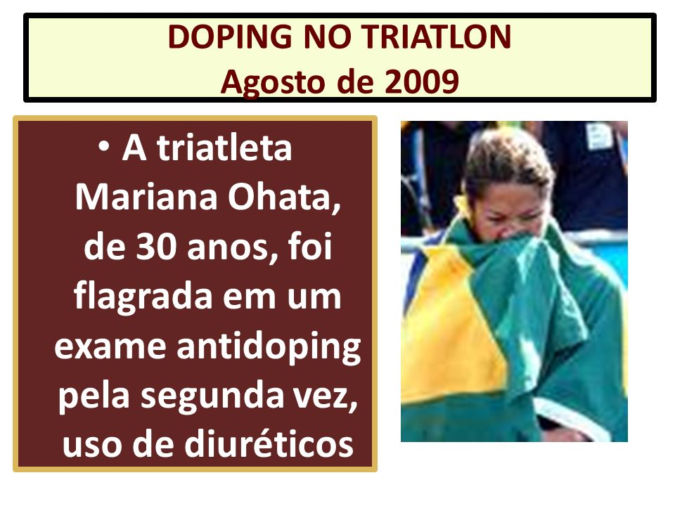 DOPING NO TRIATLON Agosto de 2009