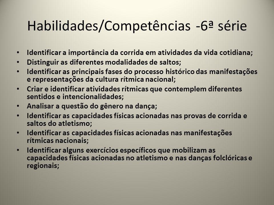 Habilidades/Competências -6ª série
