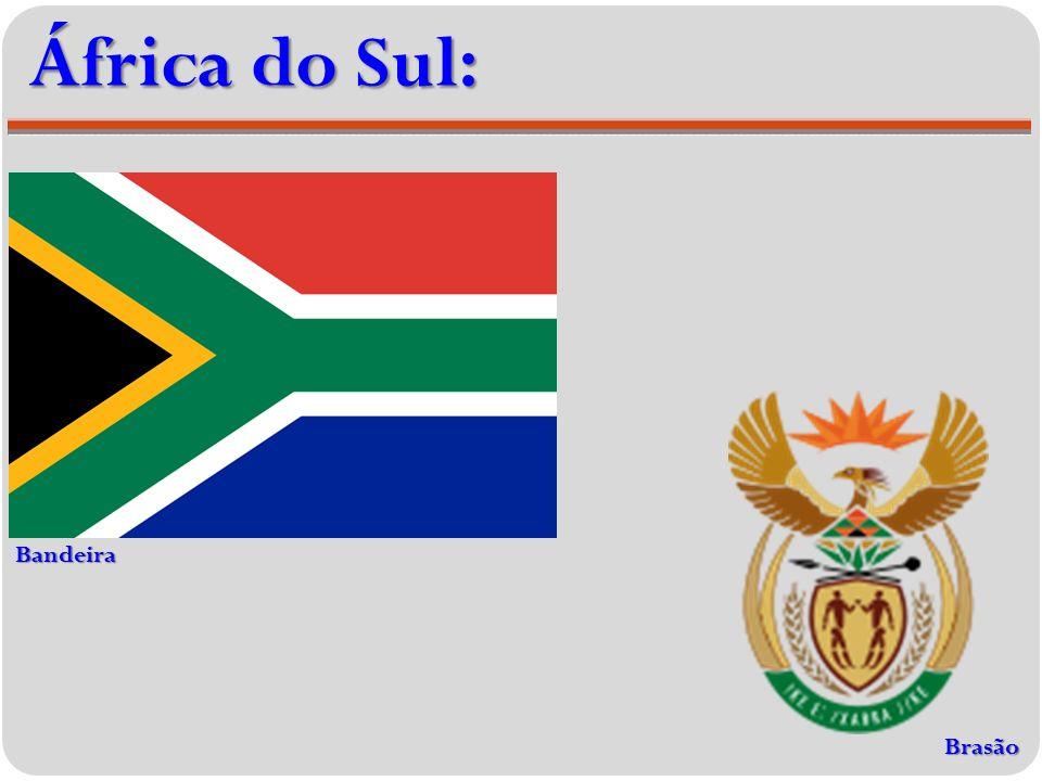 África do Sul: Bandeira Brasão