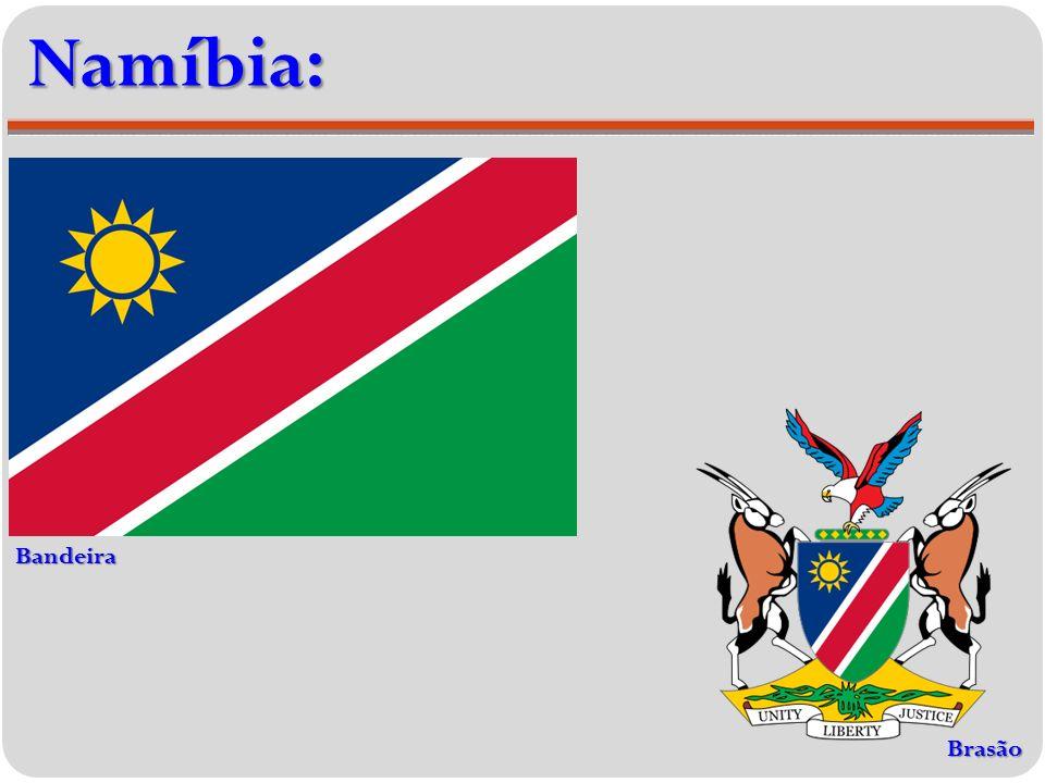 Namíbia: Bandeira Brasão
