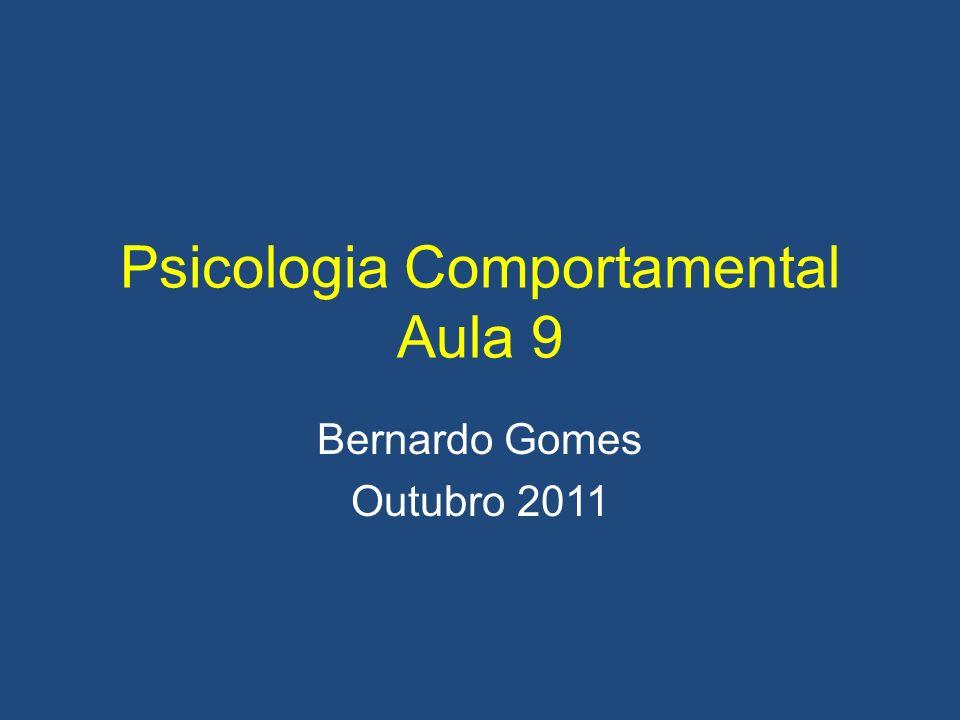 Psicologia Comportamental Aula 9