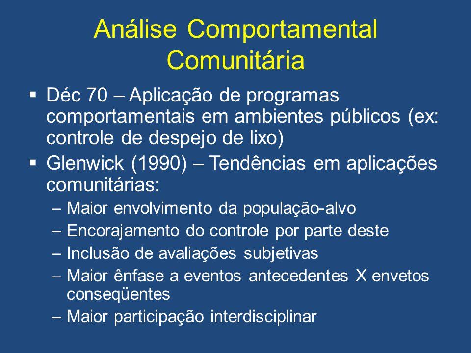 Análise Comportamental Comunitária