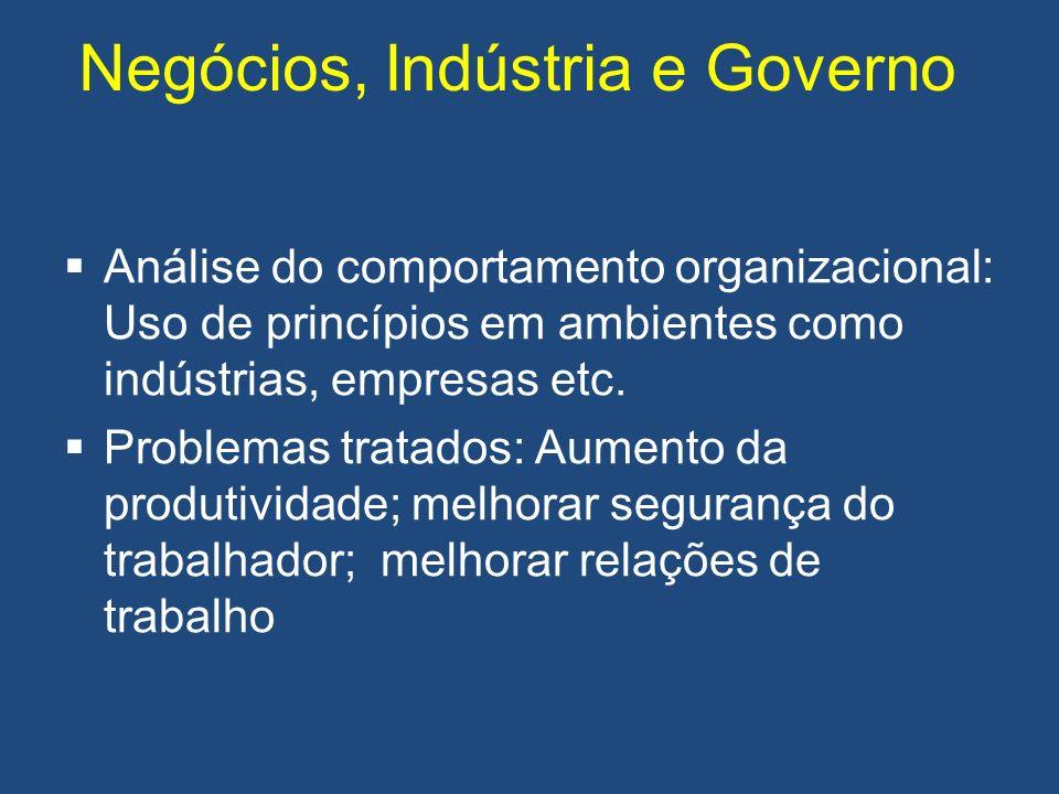 Negócios, Indústria e Governo