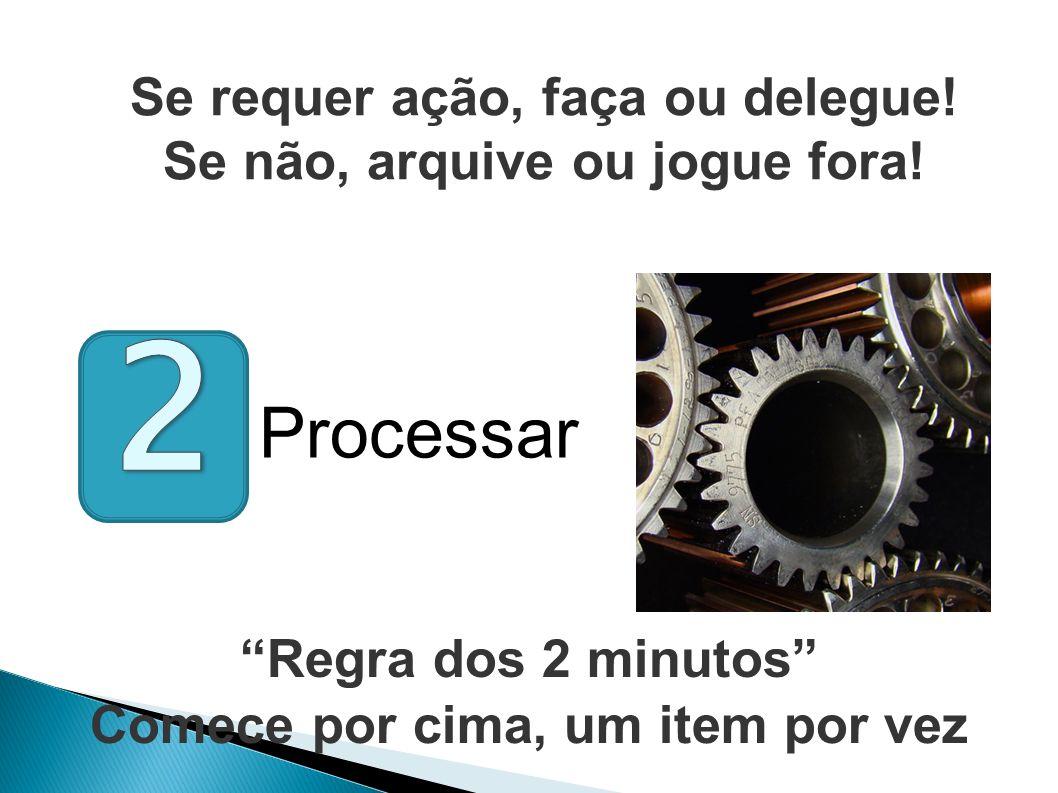 2 Processar Se requer ação, faça ou delegue!