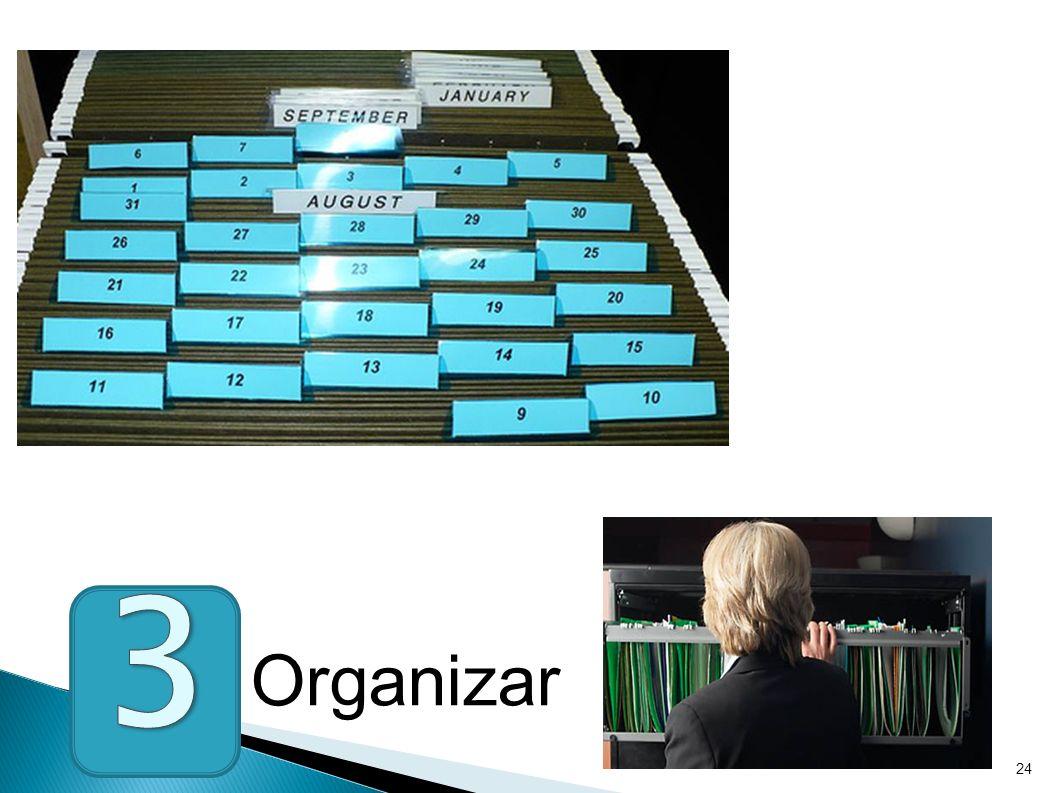 3 Organizar