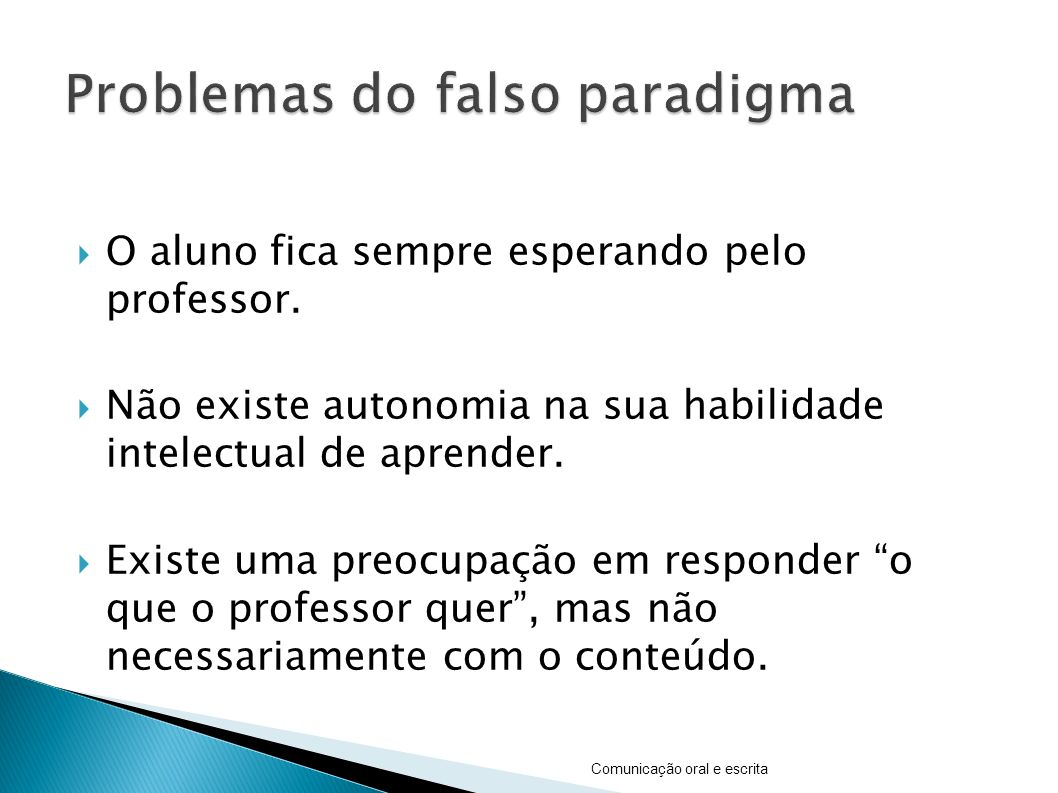 Problemas do falso paradigma