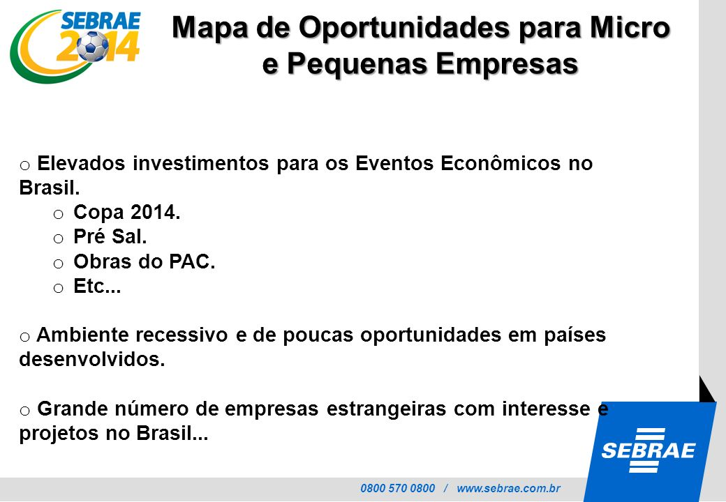 Mapa de Oportunidades para Micro e Pequenas Empresas