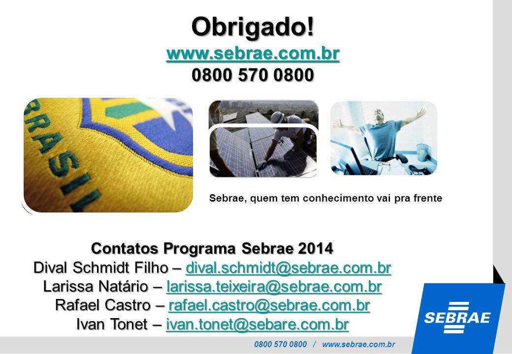 Contatos Programa Sebrae 2014