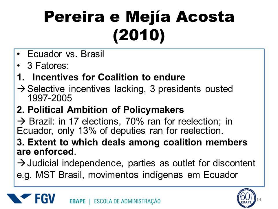 Pereira e Mejía Acosta (2010)