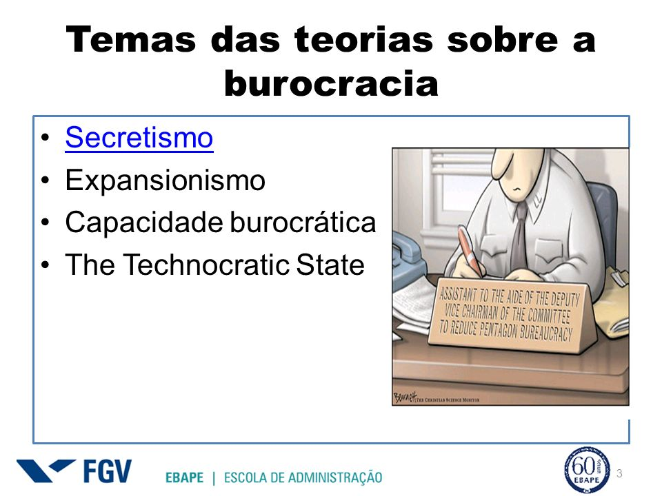 Temas das teorias sobre a burocracia