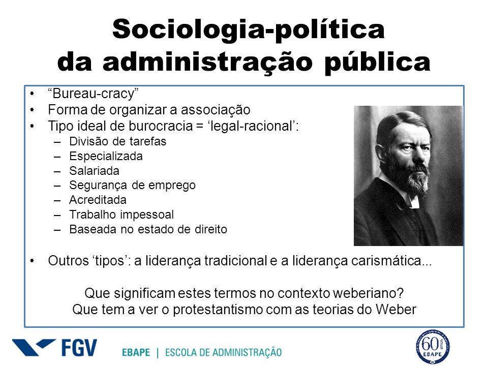 Sociologia-política da administração pública