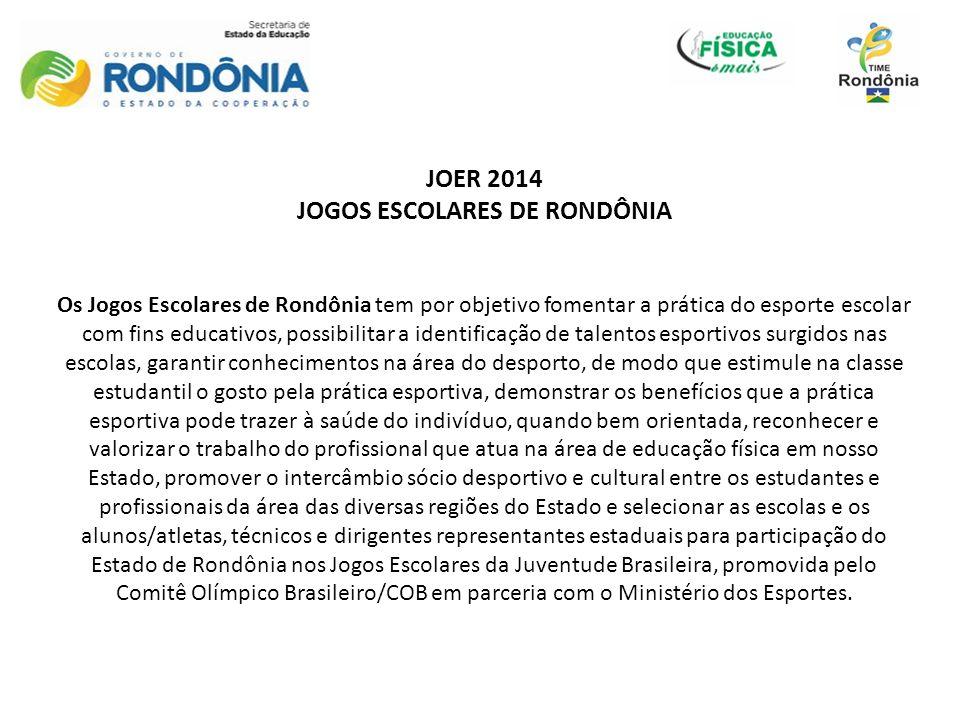 JOGOS ESCOLARES DE RONDÔNIA