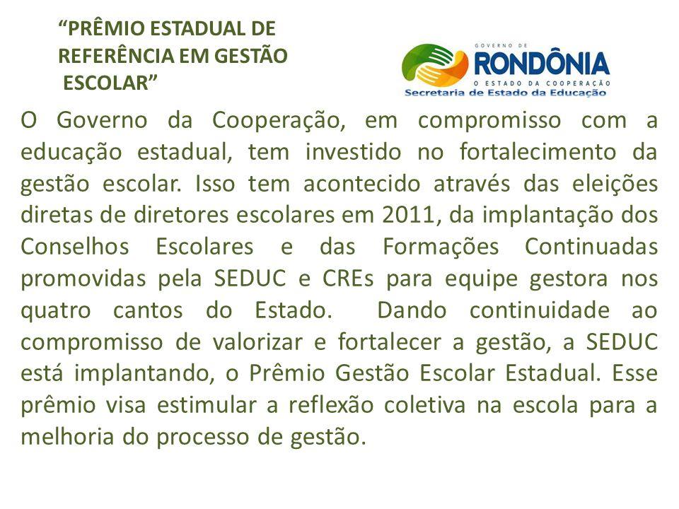 PRÊMIO ESTADUAL DE REFERÊNCIA EM GESTÃO ESCOLAR