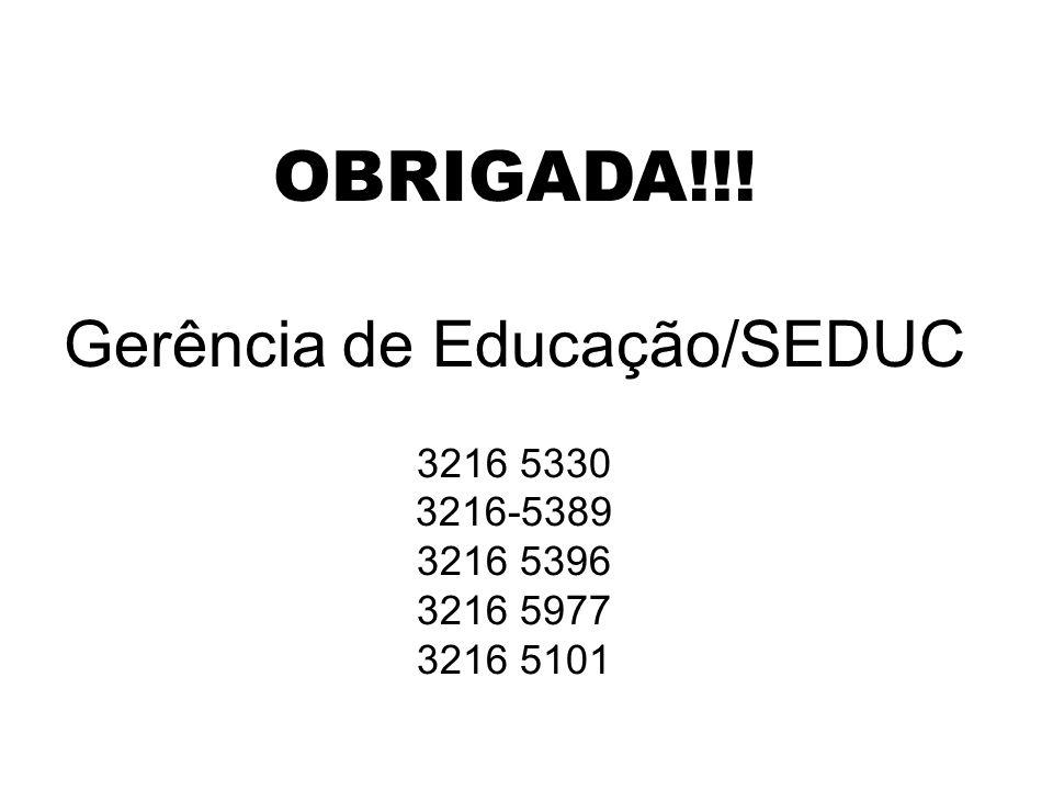 Gerência de Educação/SEDUC