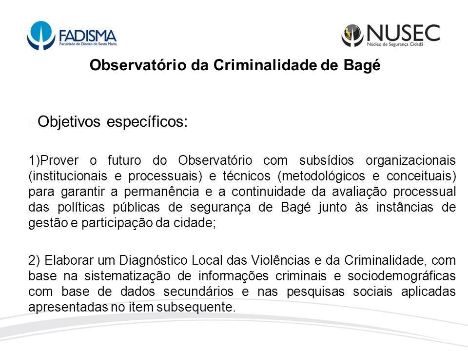 Observatório da Criminalidade de Bagé