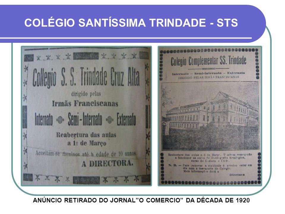 ANÚNCIO RETIRADO DO JORNAL O COMERCIO DA DÉCADA DE 1920