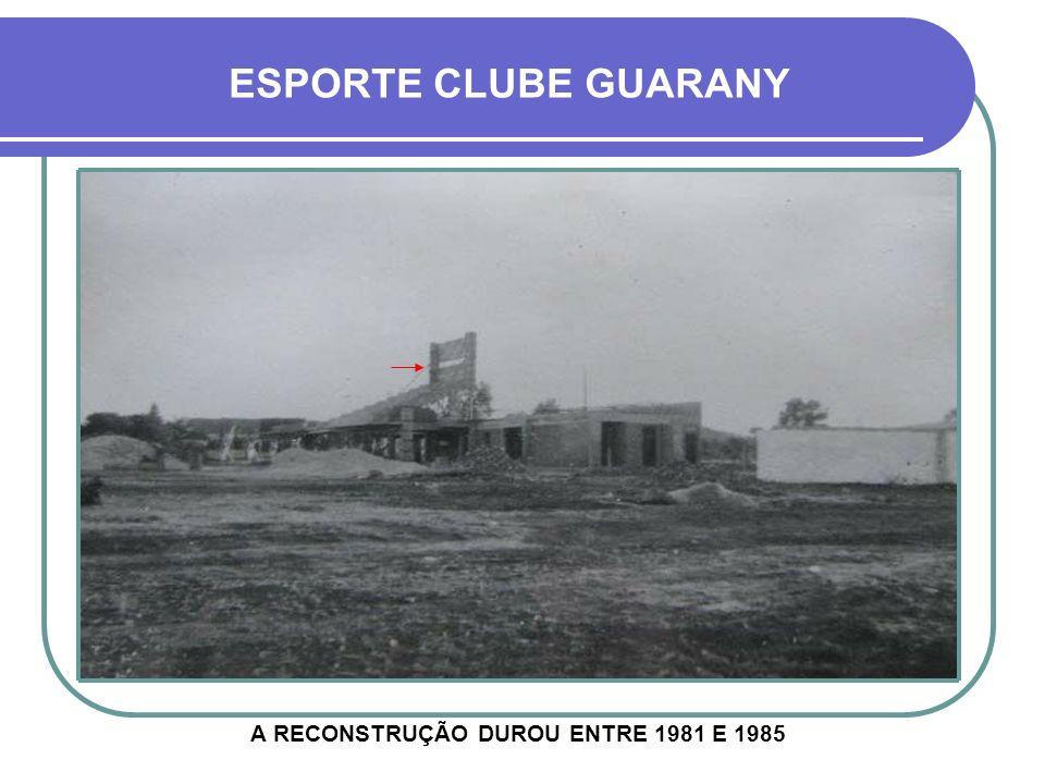 A RECONSTRUÇÃO DUROU ENTRE 1981 E 1985