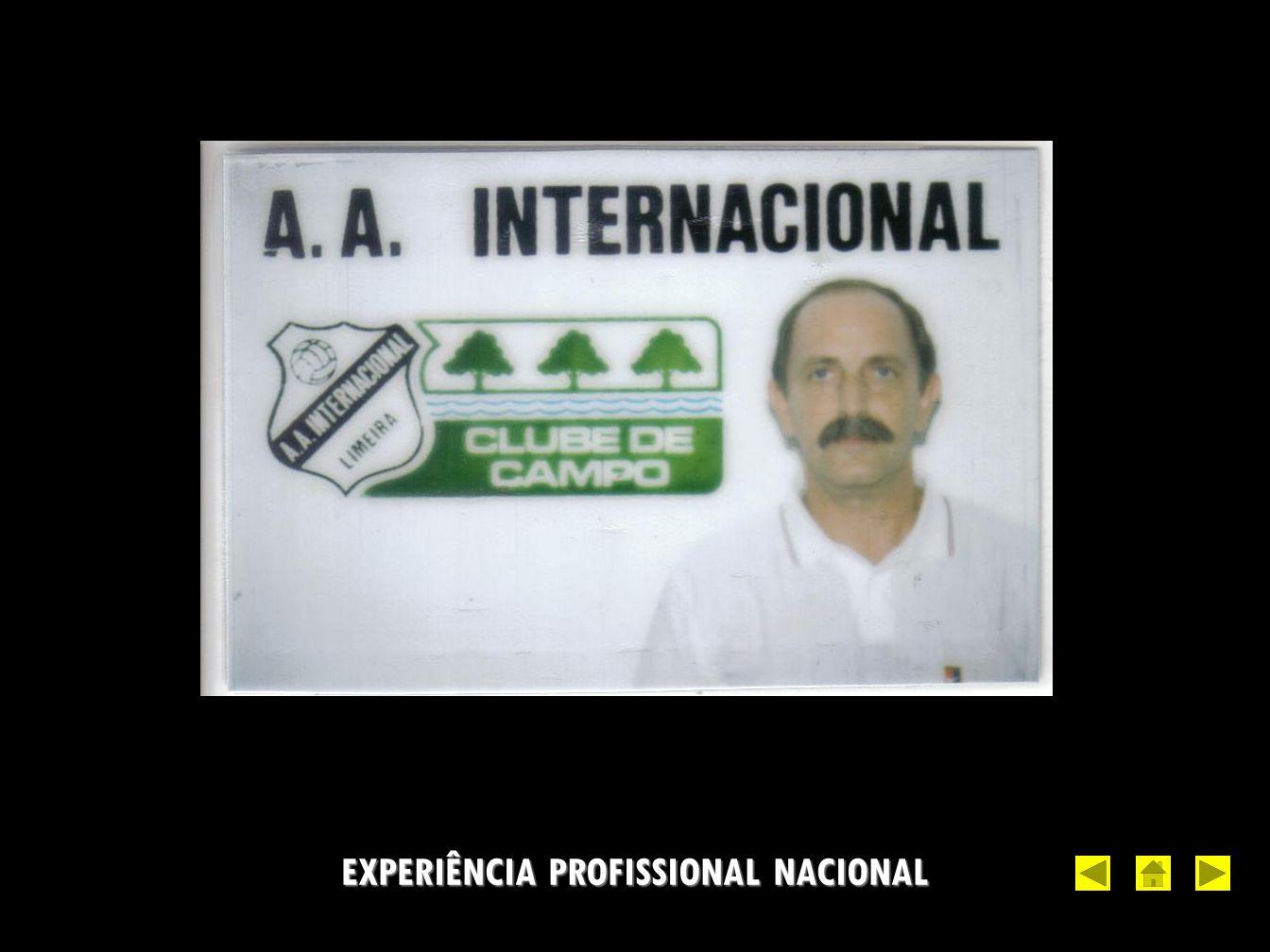 EXPERIÊNCIA PROFISSIONAL NACIONAL