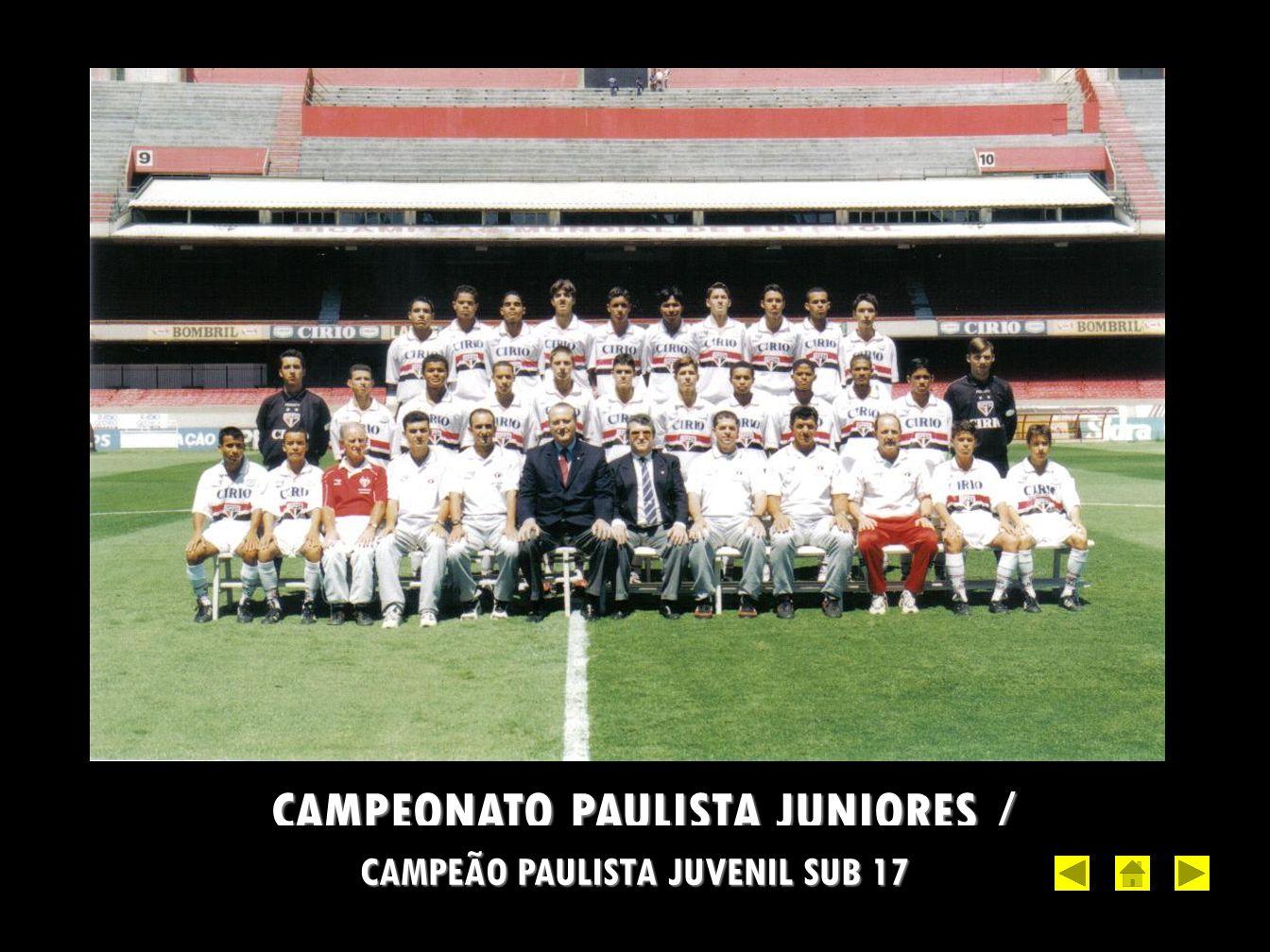 CAMPEÃO PAULISTA JUVENIL SUB 17