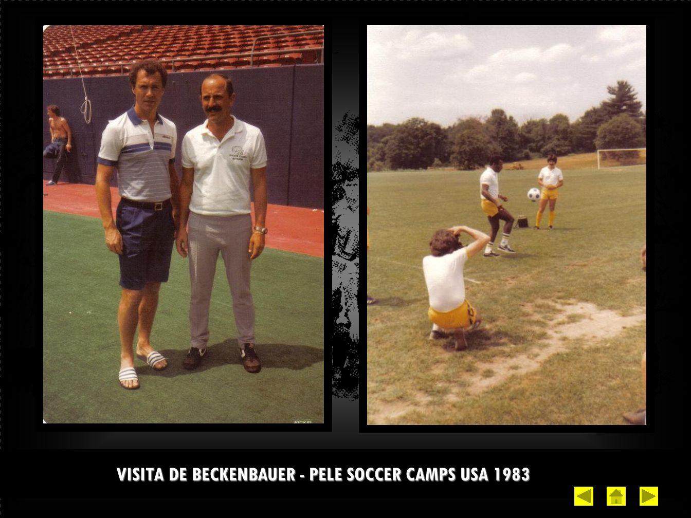 VISITA DE BECKENBAUER - PELE SOCCER CAMPS USA 1983