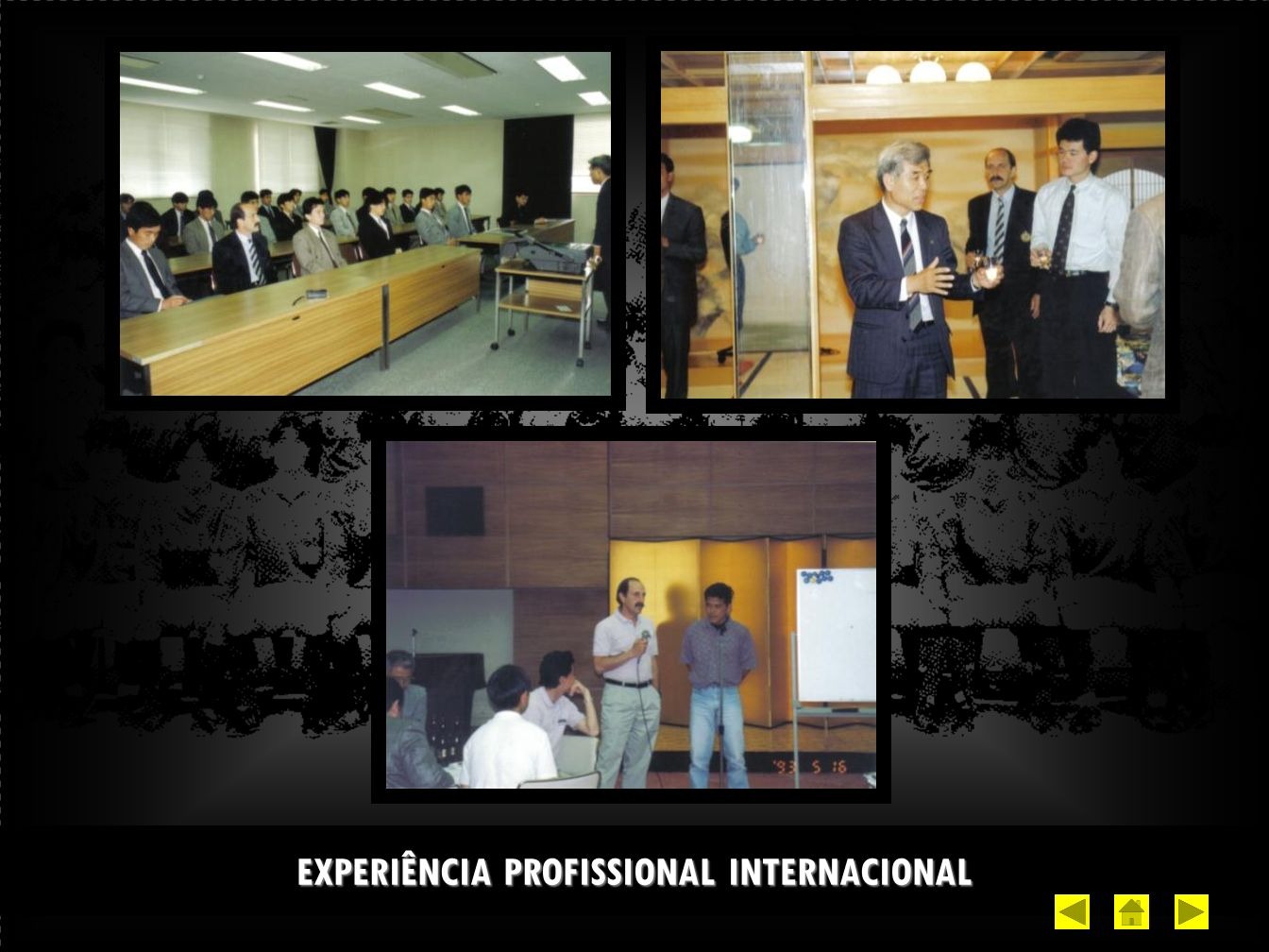 EXPERIÊNCIA PROFISSIONAL INTERNACIONAL