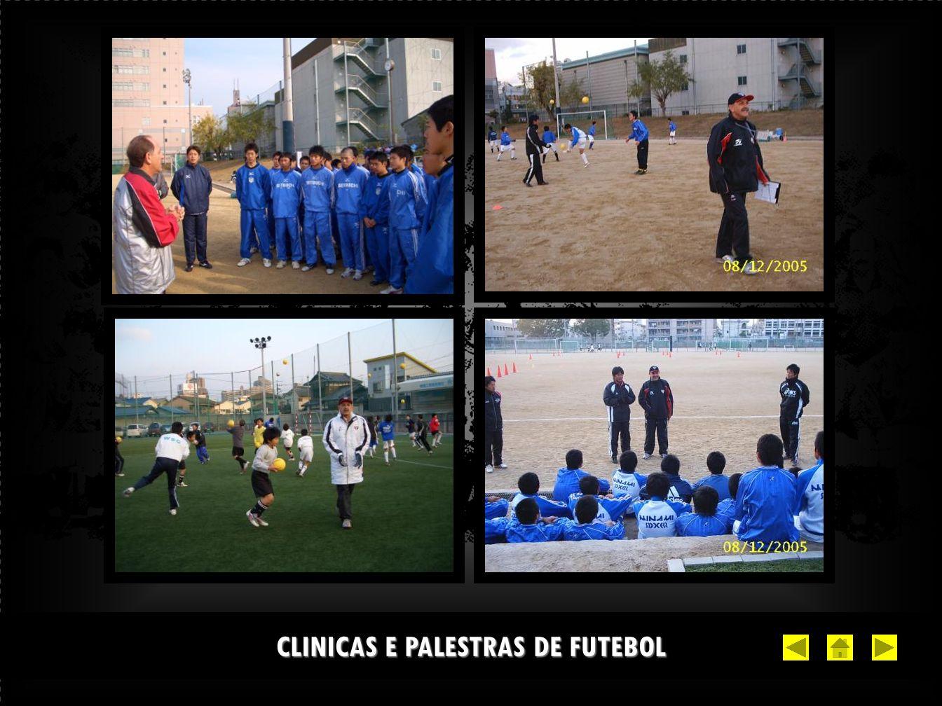 CLINICAS E PALESTRAS DE FUTEBOL