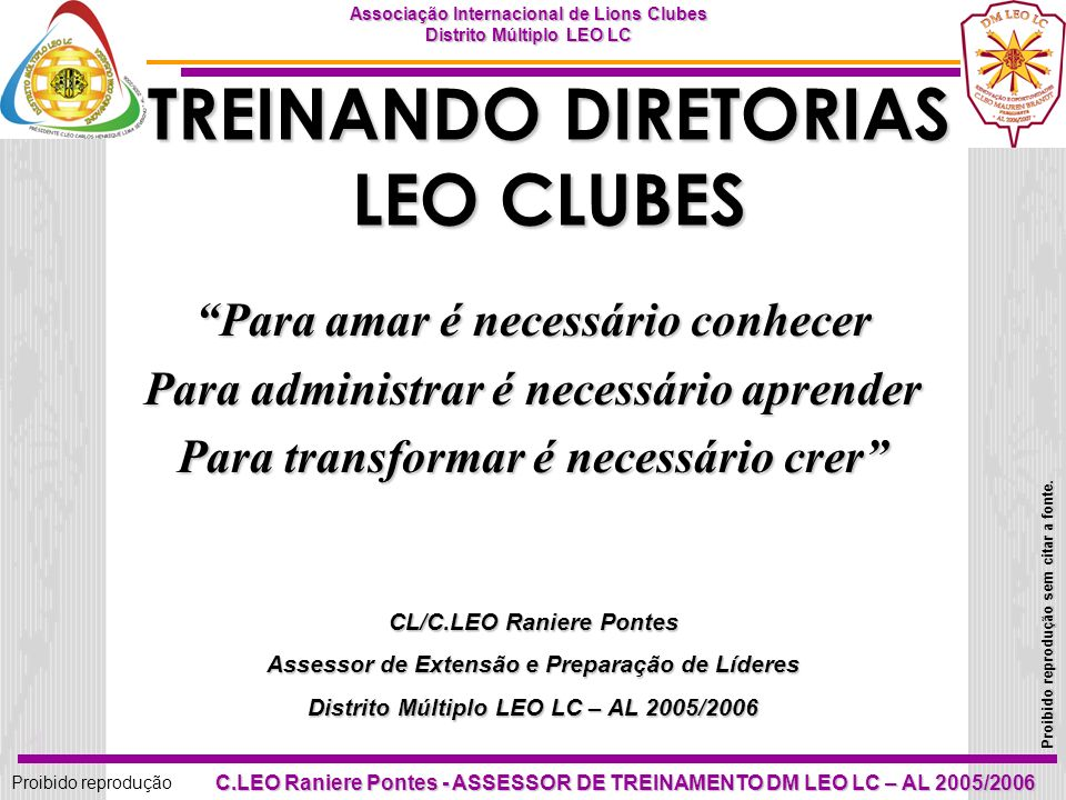 TREINANDO DIRETORIAS LEO CLUBES
