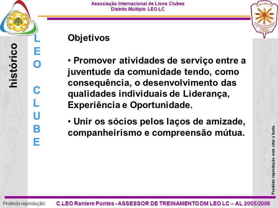 LEO histórico CLUBE Objetivos