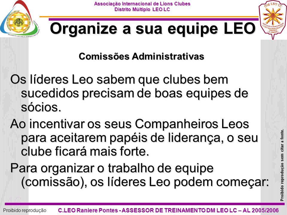 Organize a sua equipe LEO