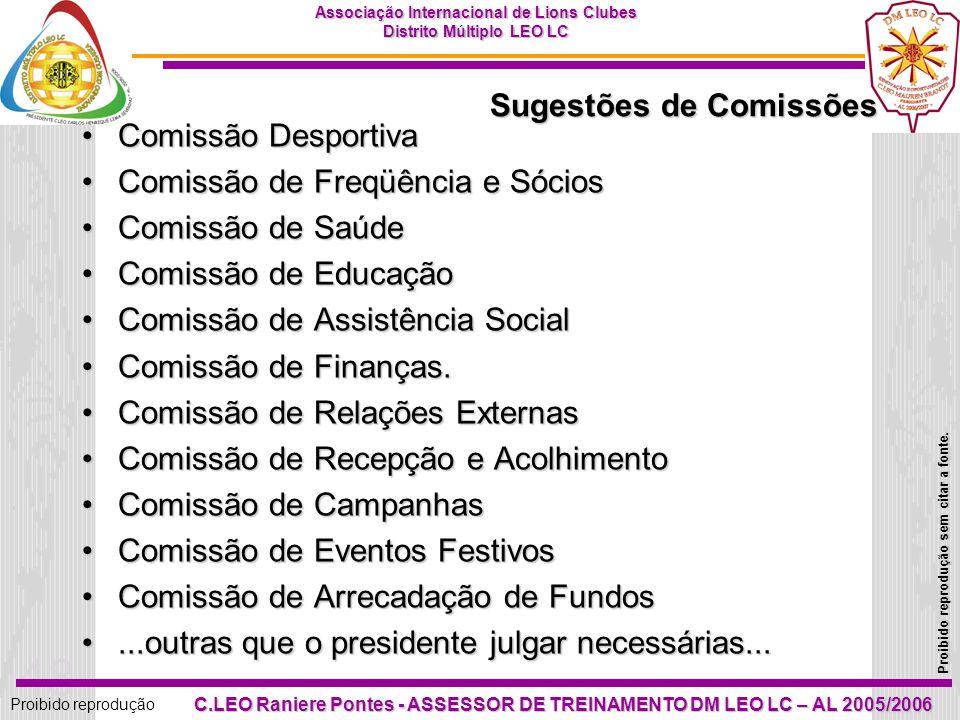 Sugestões de Comissões