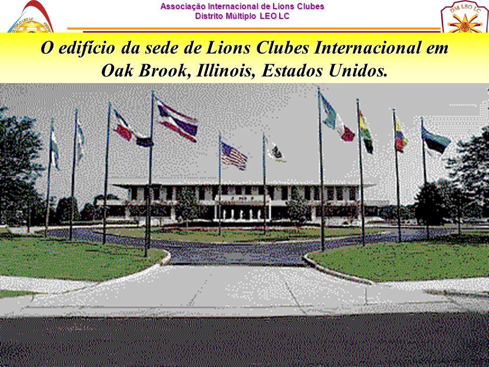 O edifício da sede de Lions Clubes Internacional em