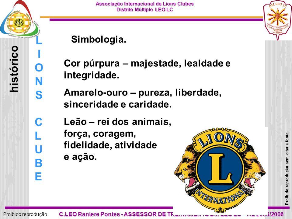 LIONS histórico CLUBE Simbologia.
