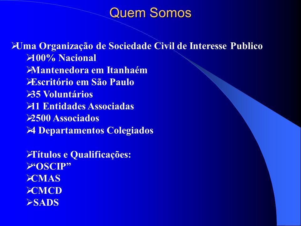 Quem Somos Uma Organização de Sociedade Civil de Interesse Publico