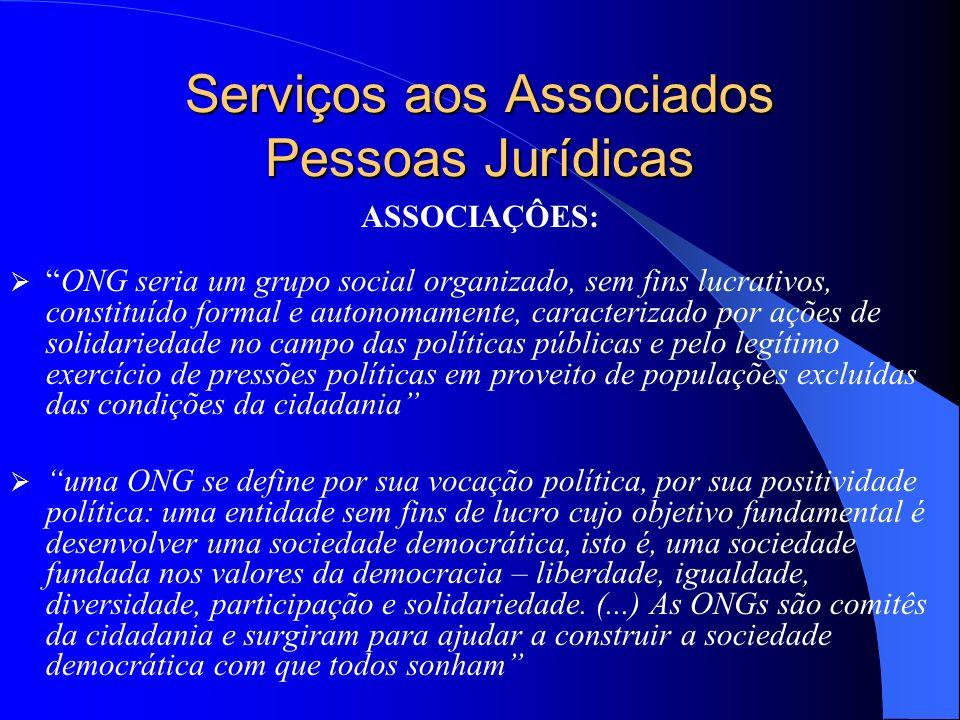 Serviços aos Associados Pessoas Jurídicas