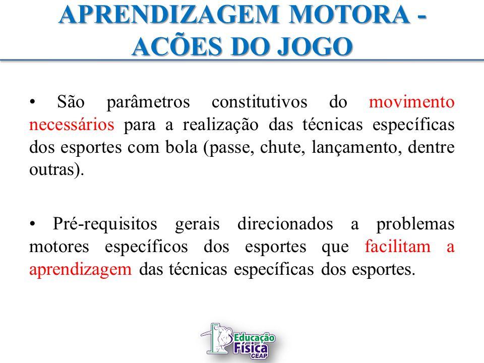 APRENDIZAGEM MOTORA - ACÕES DO JOGO