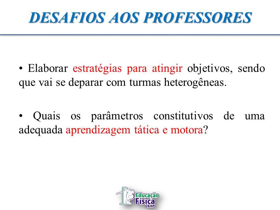 DESAFIOS AOS PROFESSORES