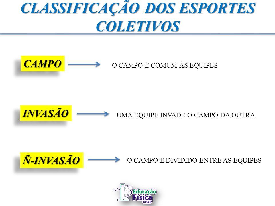 CLASSIFICAÇÃO DOS ESPORTES COLETIVOS