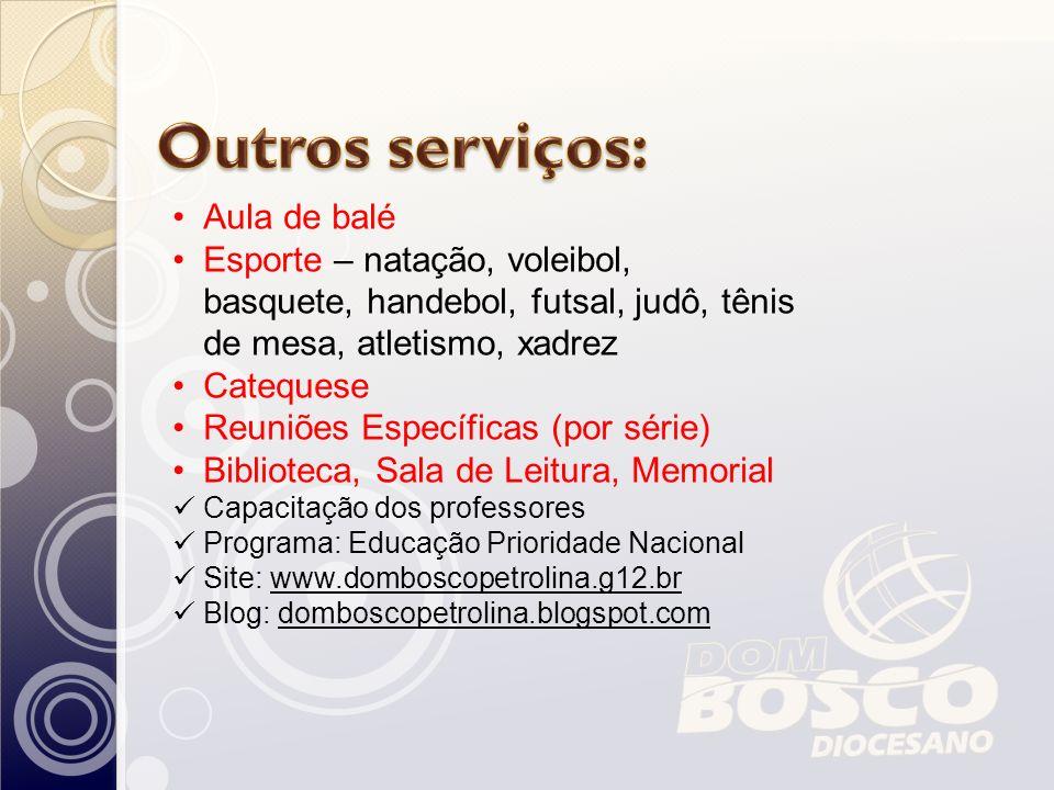 Outros serviços: Aula de balé