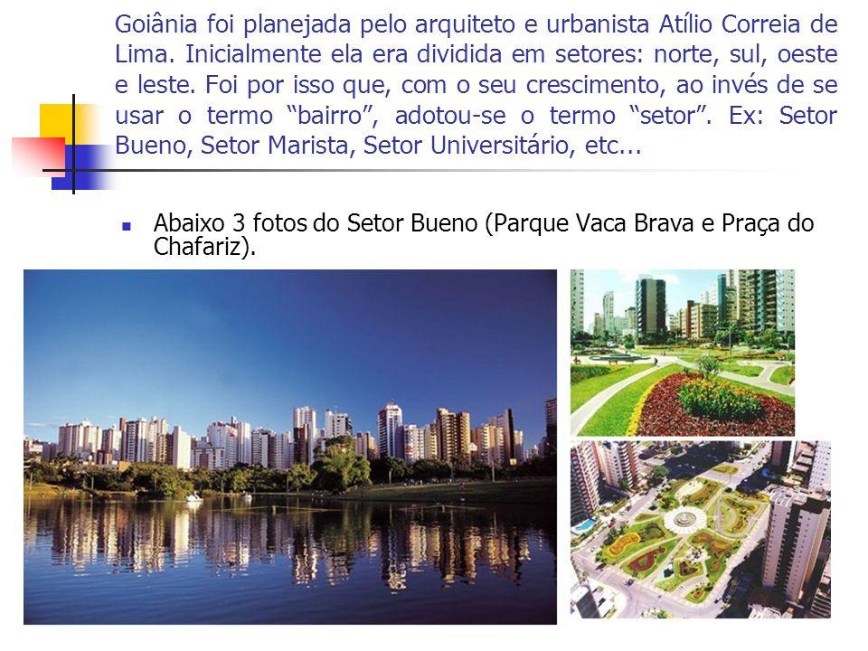 Goiânia foi planejada pelo arquiteto e urbanista Atílio Correia de Lima. Inicialmente ela era dividida em setores: norte, sul, oeste e leste. Foi por isso que, com o seu crescimento, ao invés de se usar o termo bairro , adotou-se o termo setor . Ex: Setor Bueno, Setor Marista, Setor Universitário, etc...