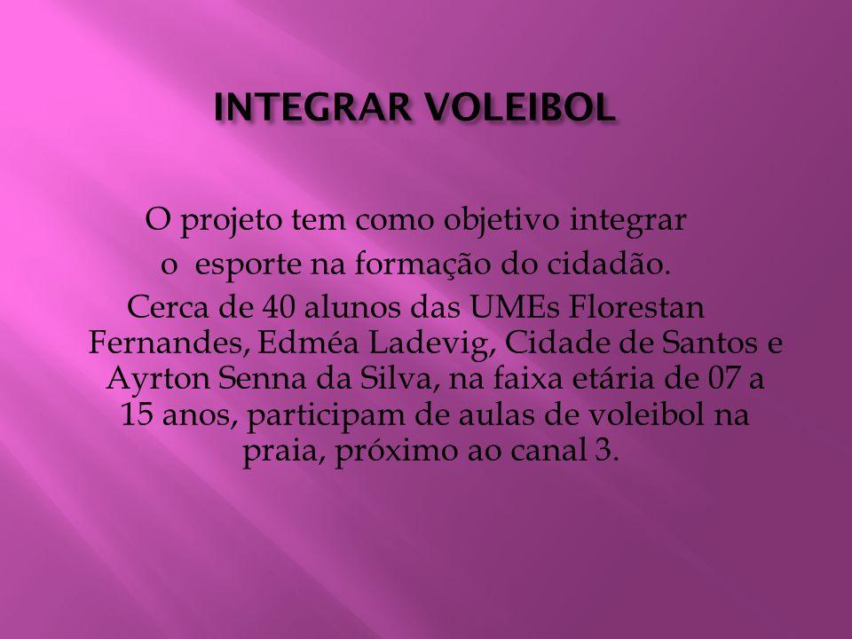 INTEGRAR VOLEIBOL O projeto tem como objetivo integrar