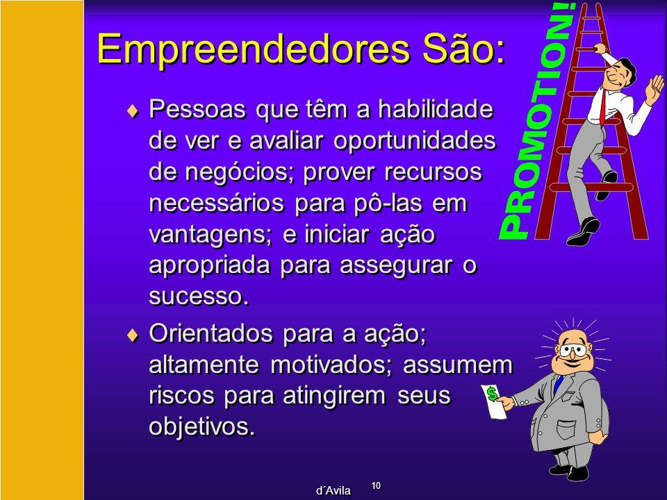 Empreendedores São: