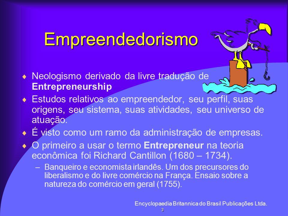 Empreendedorismo Neologismo derivado da livre tradução de Entrepreneurship.