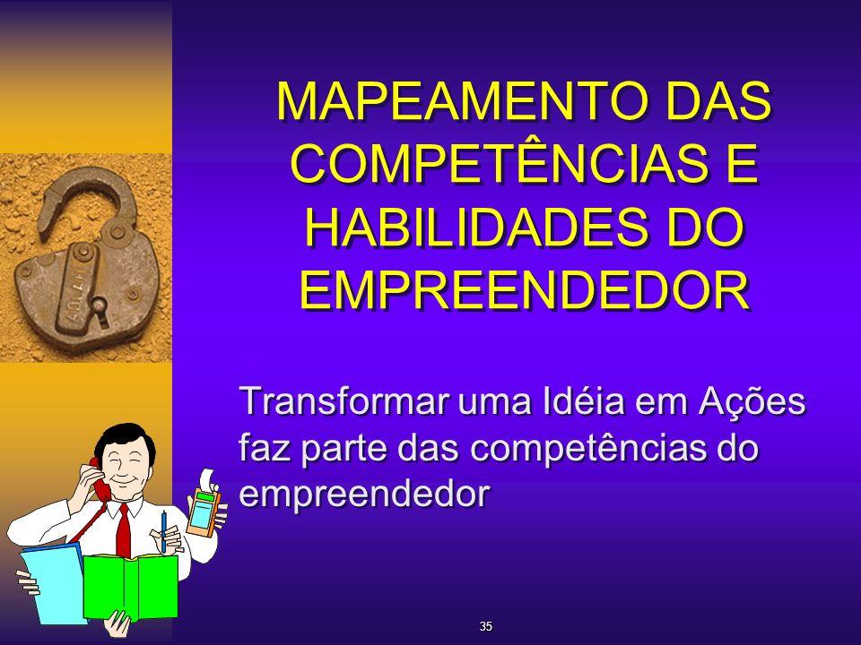 MAPEAMENTO DAS COMPETÊNCIAS E HABILIDADES DO EMPREENDEDOR