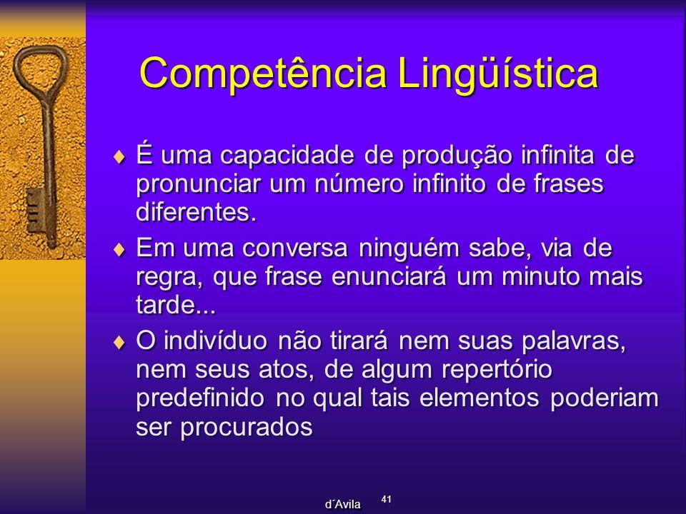 Competência Lingüística