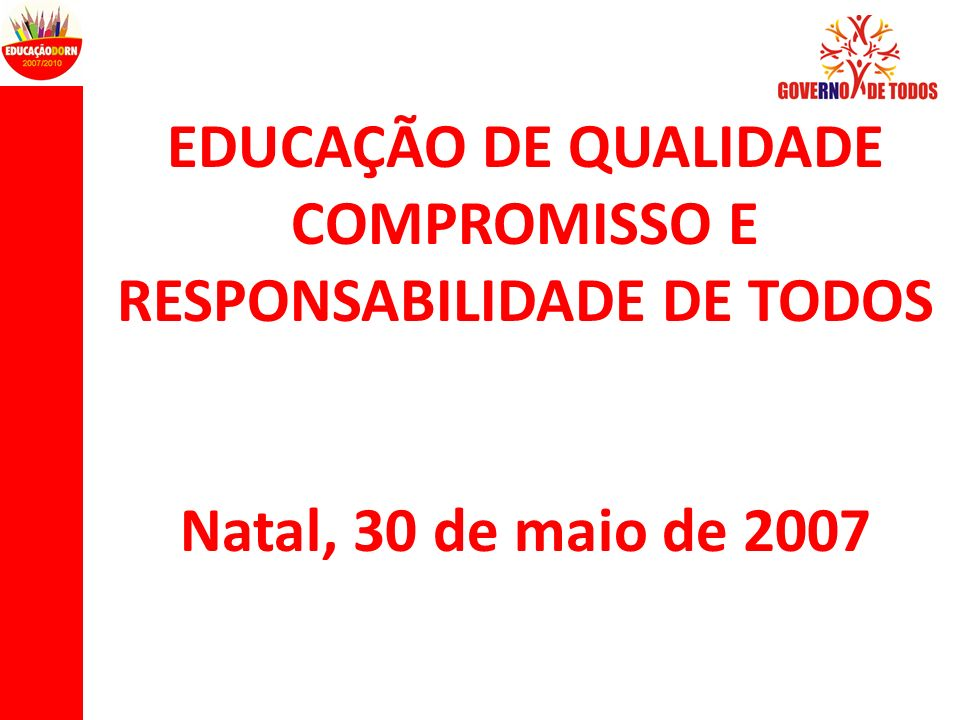 COMPROMISSO E RESPONSABILIDADE DE TODOS
