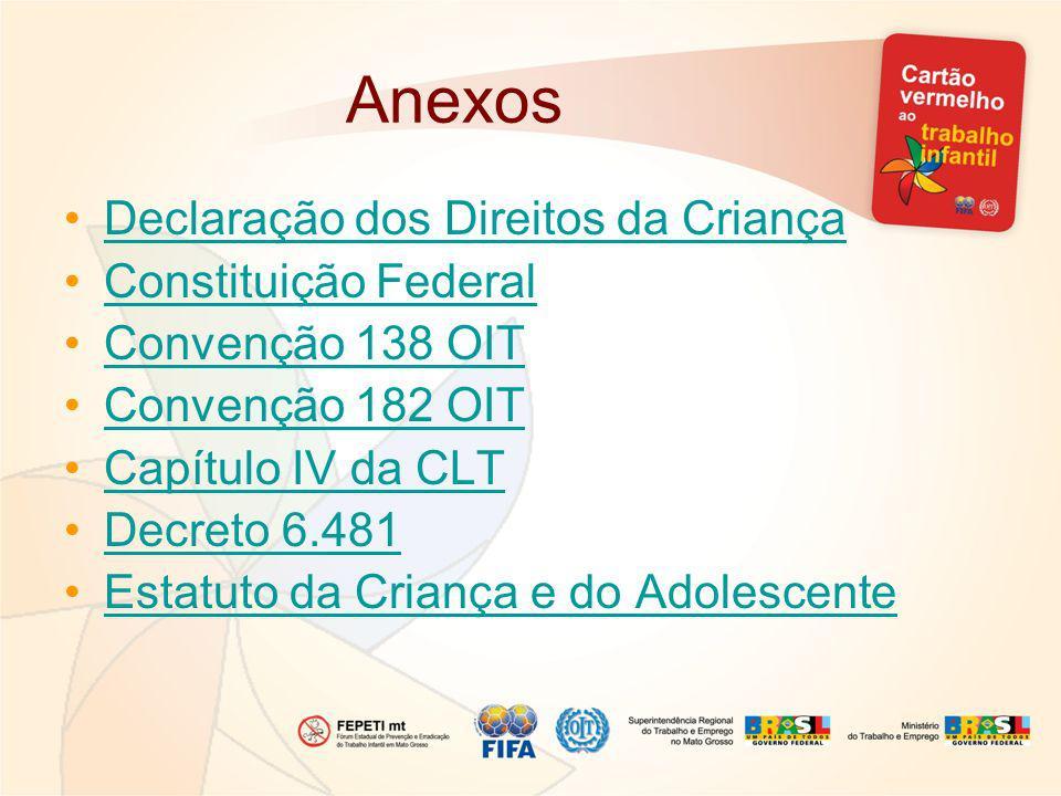 Anexos Declaração dos Direitos da Criança Constituição Federal