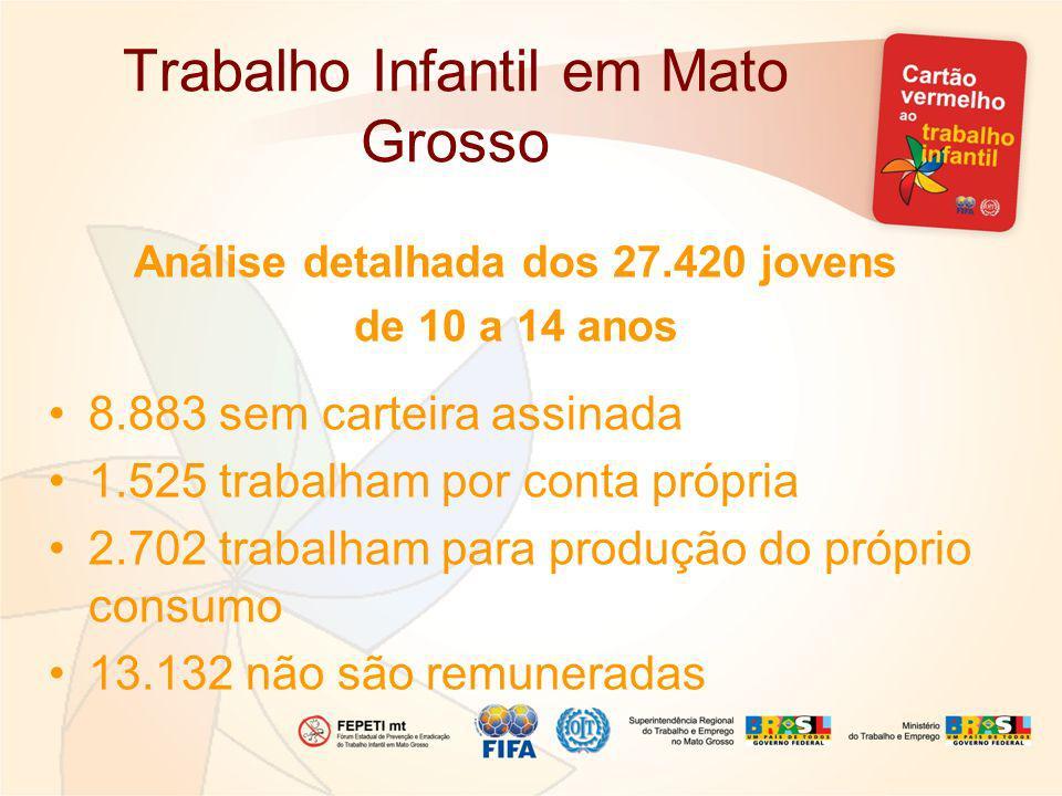 Trabalho Infantil em Mato Grosso