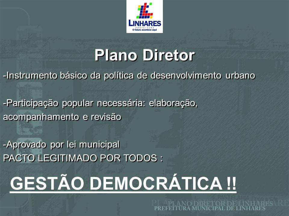 GESTÃO DEMOCRÁTICA !! Plano Diretor
