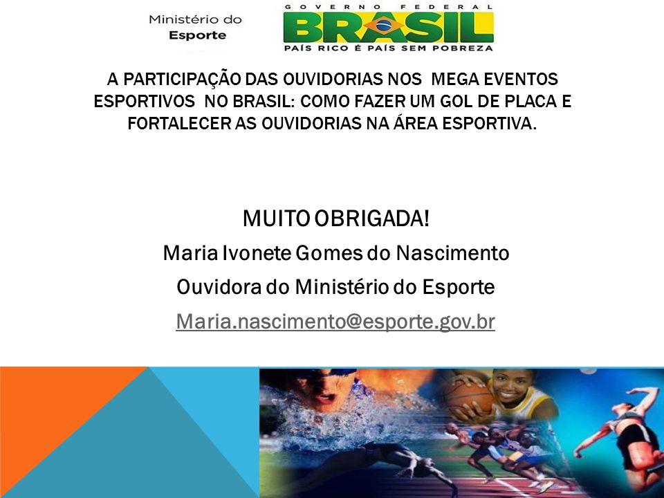 Maria Ivonete Gomes do Nascimento Ouvidora do Ministério do Esporte