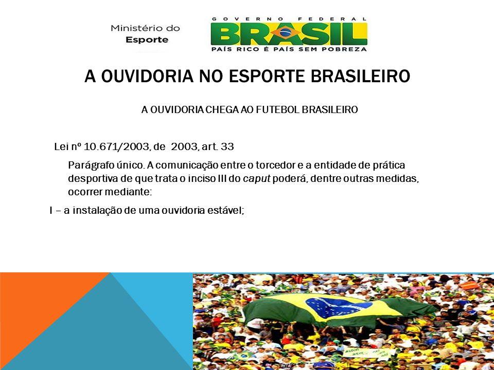 A Ouvidoria no Esporte brasileiro